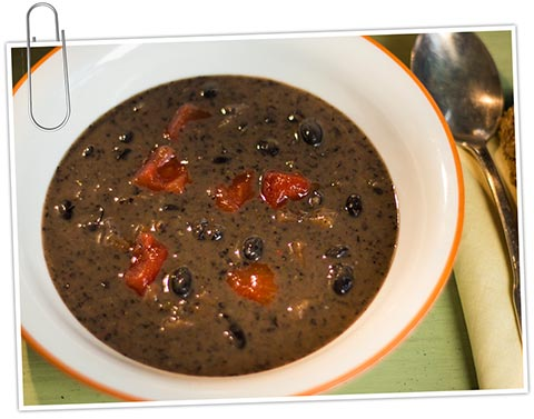 Costa rican black bean soup the idiet costa rican black bean soup forumfinder Image collections