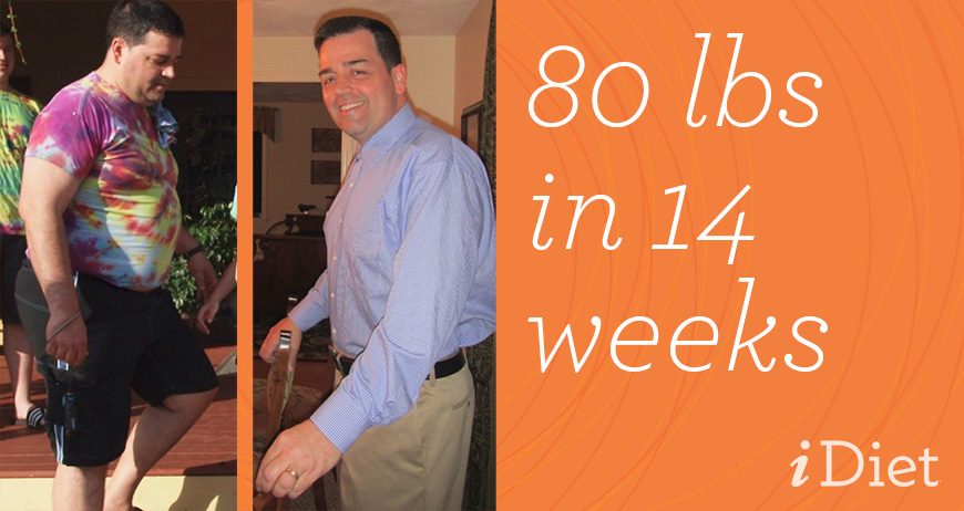 Congratulations to Tim: 80 lbs in 14 weeks